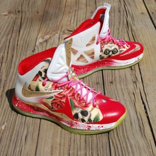 Custom Before HeRose LeBron X by GourmetKickz