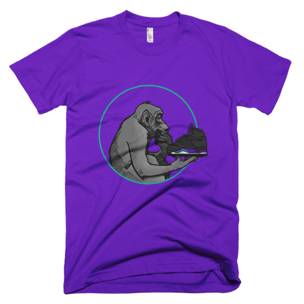 1bc0fc2a7bf9 Ape Ponders Black Grape Jordan 5 Shirt