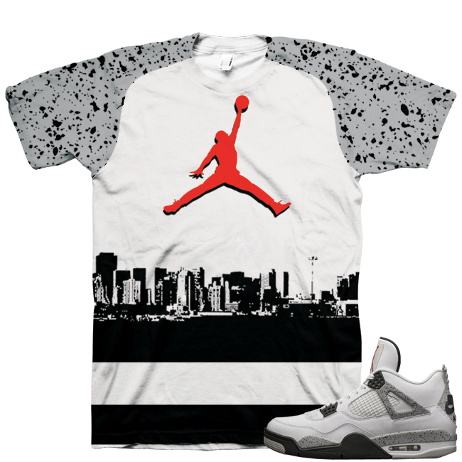 "1c04f511fe9b Air Jordan 4 OG  89 ""White Cement"" Shirt V1"