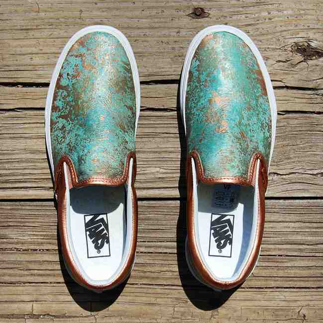 4909f594739f Custom Vans Slip-Ons Patina Premium Leather by GourmetKickz